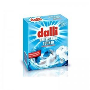 DALLI Ubrousky na praní bílého prádla 15ks
