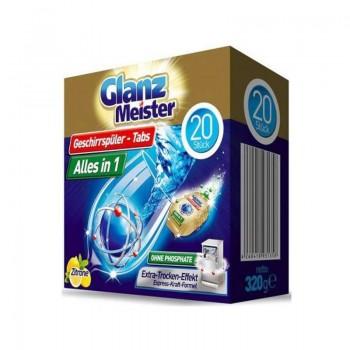 GLANZ MEISTER ALLES IN 1 Tablety do myčky 20ks
