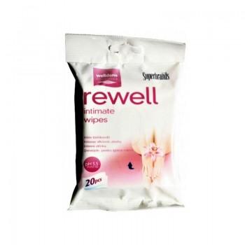REWELL INTIMATE WIPES Vlhčené ubrousky pro intimní hygienu 20ks