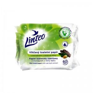 LINTEO Vlhčený toaletní papír s extraktem z dubové kůry 60ks