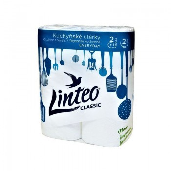 LINTEO CLASSIC Kuchyňské utěrky dvouvrstvé 2role