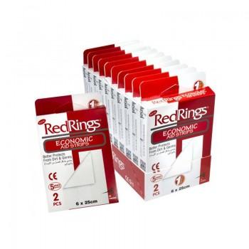 RED RINGS ECONOMIC Zdravotní náplast 6x25cm 2ks