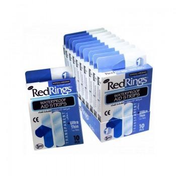 RED RINGS WATERPROOF Zdravotní náplast - voděodolná 10ks
