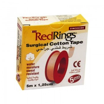 RED RINGS SURGICAL COTTON TAPE Chirurgická páska bavlněná 5m x 1,25cm
