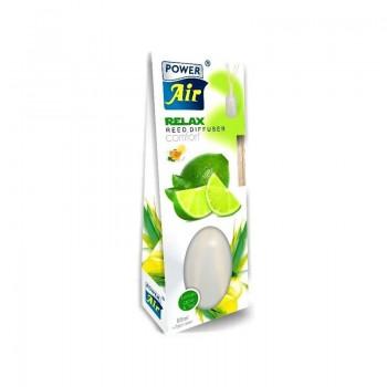 POWER AIR RELAX REED DIFFUSER LEMON GRASS & TEA Osvěžovač vzduchu 85ml + ratanové tyčinky 7ks