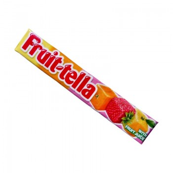 FRUITTELLA JAHODA + POMERANČ + CITRON Ovocné bonbony 41g