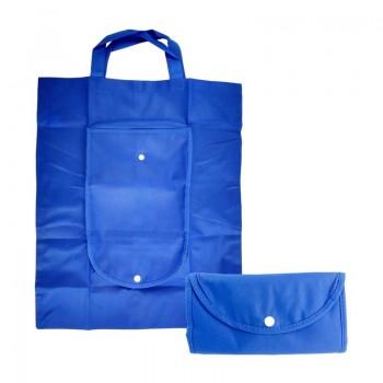 TAŠKA NÁKUPNÍ ROZKLÁDACÍ Modrá textilní 1ks