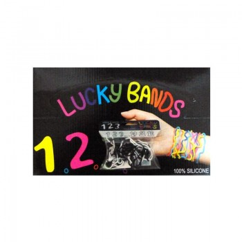 LUCKY BANDS BOX Gumičky pro štěstí černo-bílé 1ks
