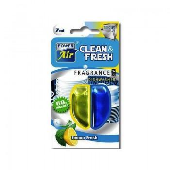 POWER AIR CLEAN&FRESH LEMON (CITRON) Osvěžovač do myčky nádobí 7ml