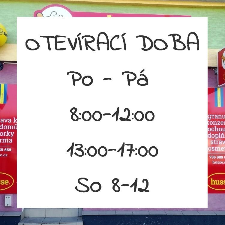 Otevírací doba úterý 12:30 - 16:30
